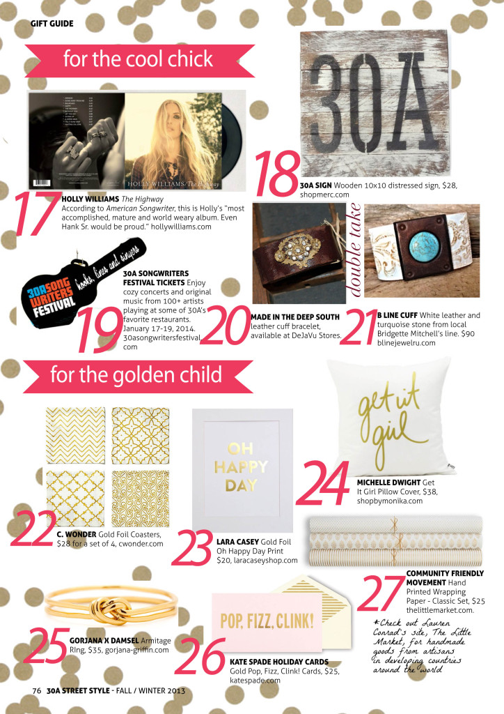 30A Street Style Holiday Gift Guide Cool Chick Golden Child