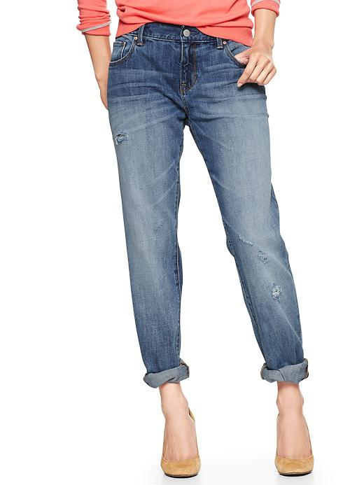 Gap 1969 Destructed Boyfriend Jeans