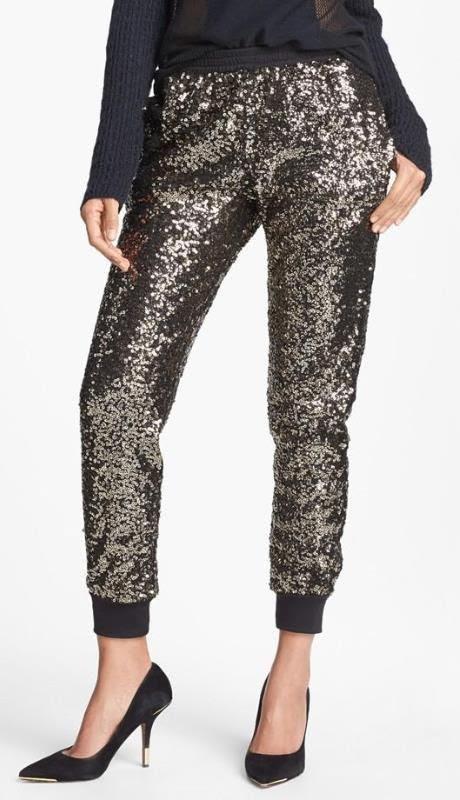 Sequin Track Pants