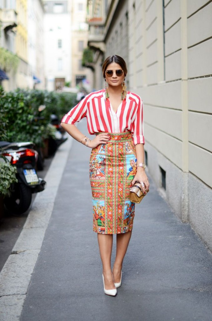 White Pumps - Stripe Top