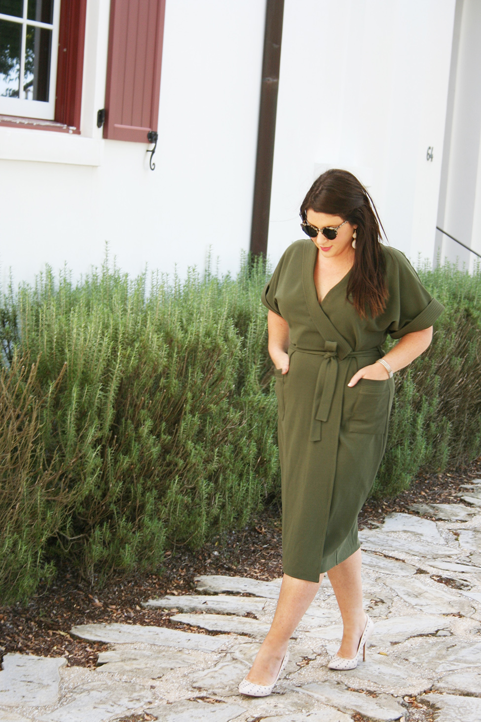 30A Street Style Alys Beach Military Dress