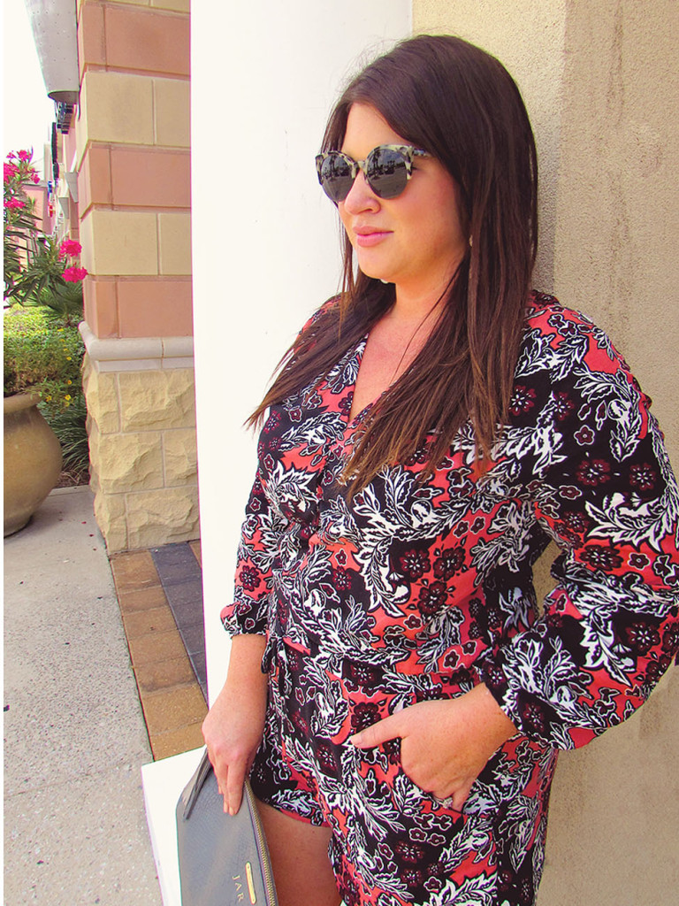 Fall Printed Romper 30A Street Style 6