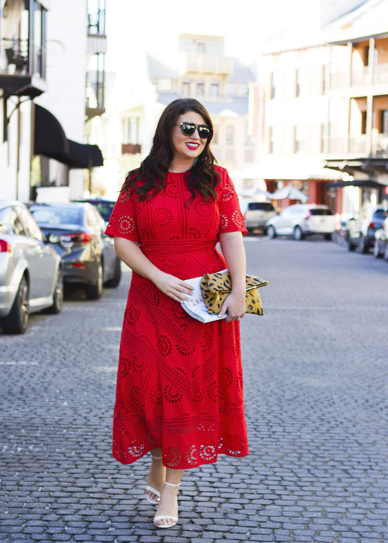 Red Midi Dress Rosemary Beach Jami Ray 30A
