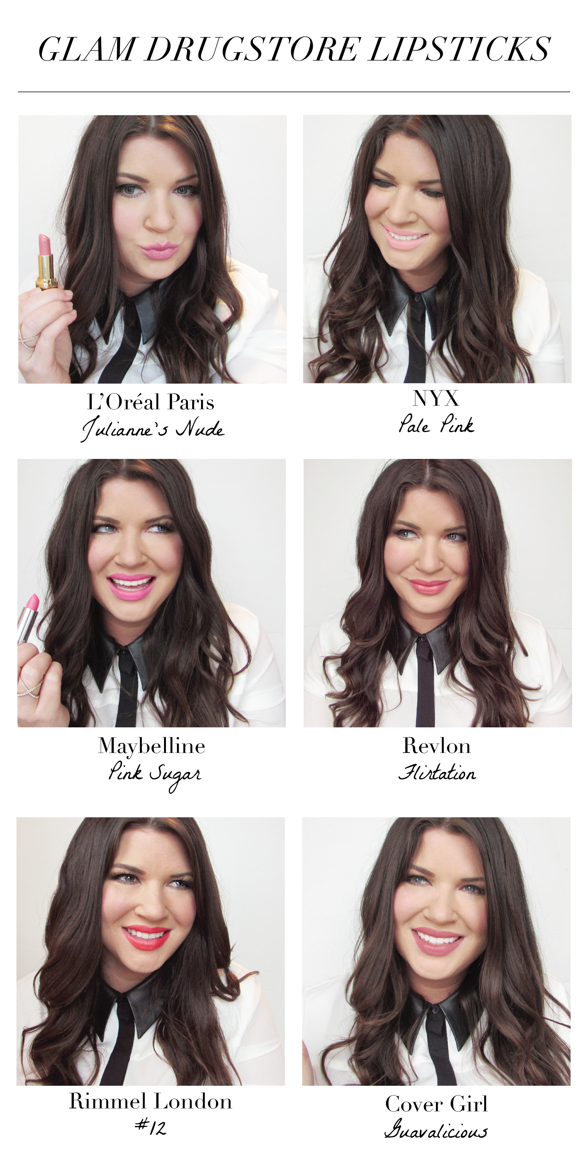 Glam Drugstore Lipsticks