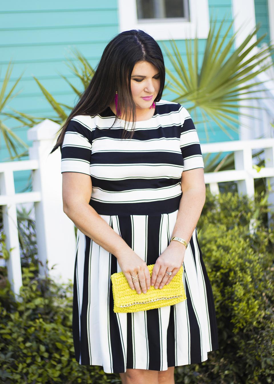 BW Ladylike Stripes 30A Street Style 3