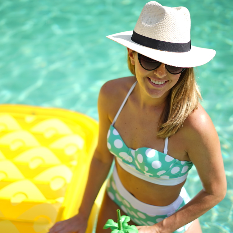 Js Everyday Fashion - 30 Questions on 30A Polka+dot+high+waist+swim+suit