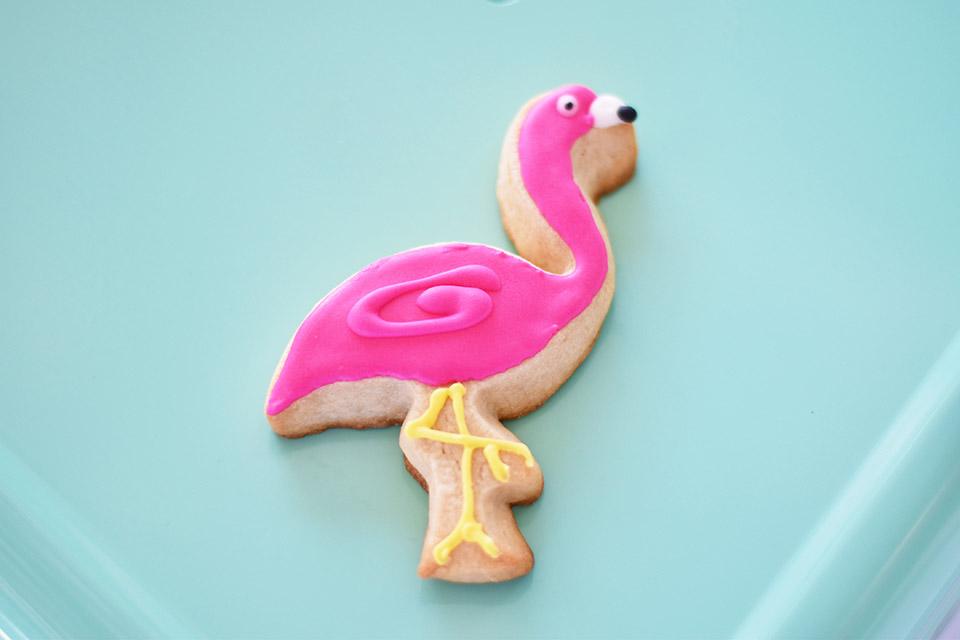 6th Birthday Flamingle - Flamingo Cookie Dulce Nina