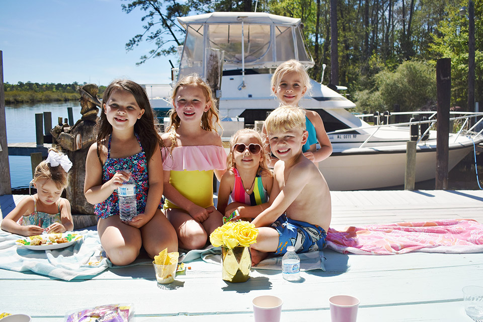 6th Birthday Flamingle - Florida Kids Dock Party