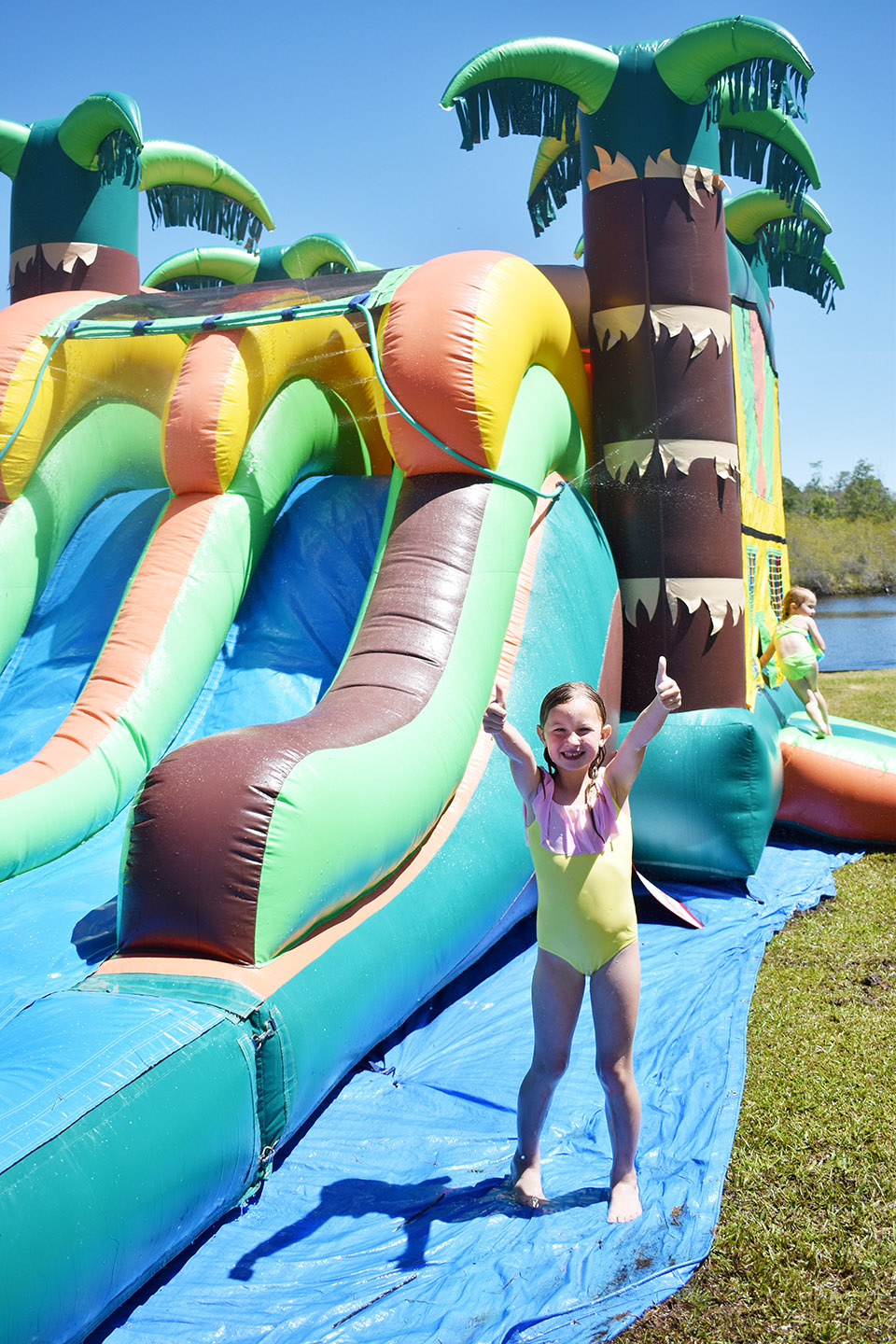 6th Birthday Flamingle - Playground Bounce House