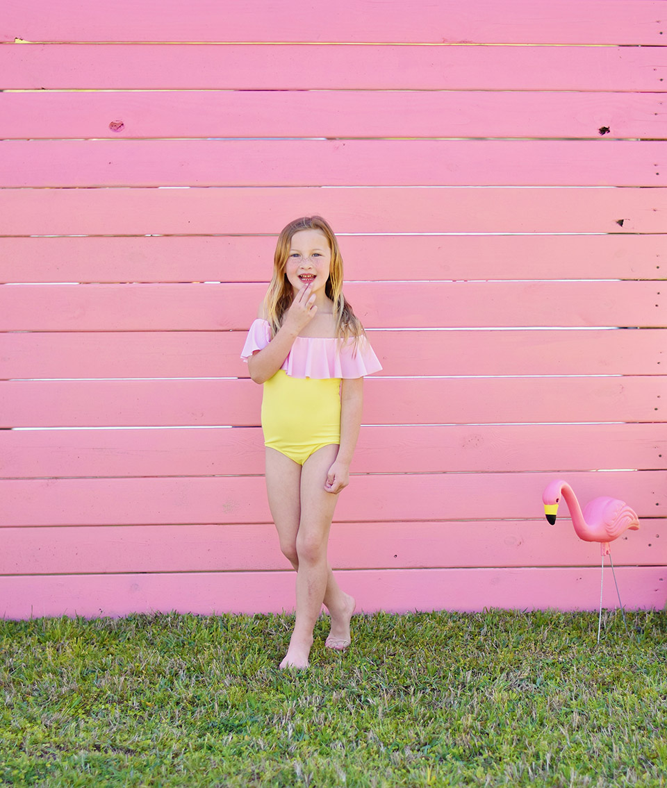 6th Birthday Flamingle - Stella Cove suit