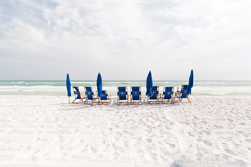 LiveWell 30A beach chairs - 30A Blogger Vacay