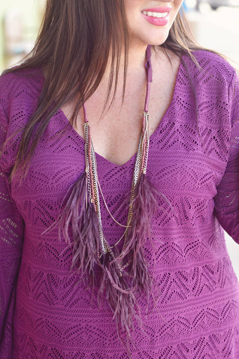 Jami Ray Grand Boulevard Anthropologie Feather Necklace