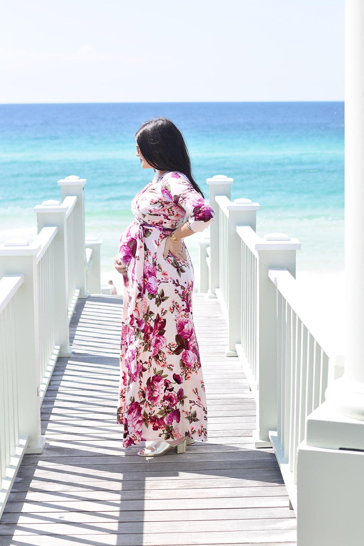 30A Street Style PinkBlush Maternity Maxi in Seaside