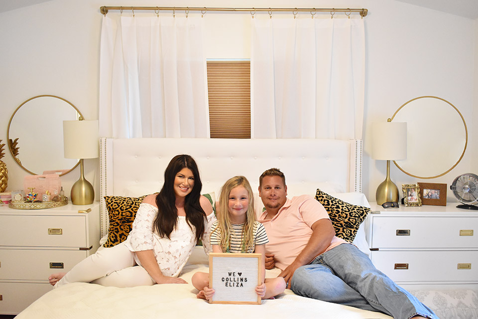 Baby Name Announcement - Family Photos in Bed