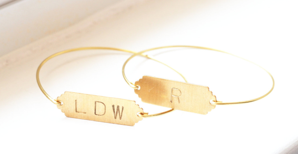 Sweet Auburn Studio Bracelet Bar Initial Gold