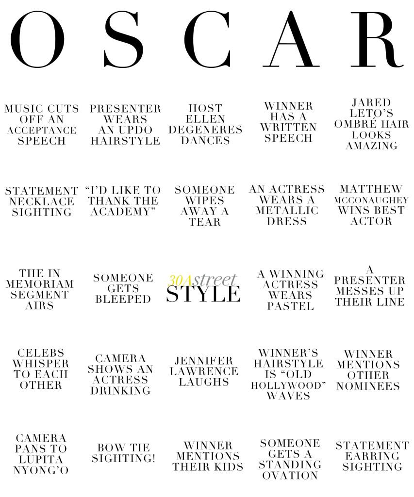 Oscar Bingo  |  30A Street Style