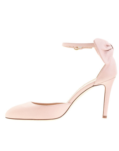 J Crew - Leather Bow Ankle Straps