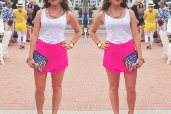 Cammie - Hot Pink Skort- 30A Style