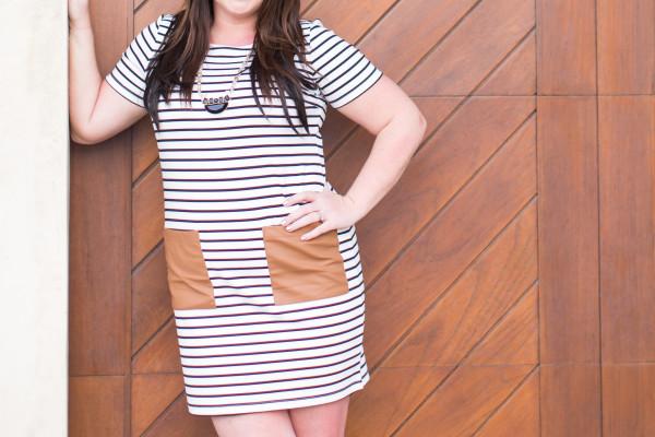 30A Street Style Jami Black White Stripe Dress 30A Style 3