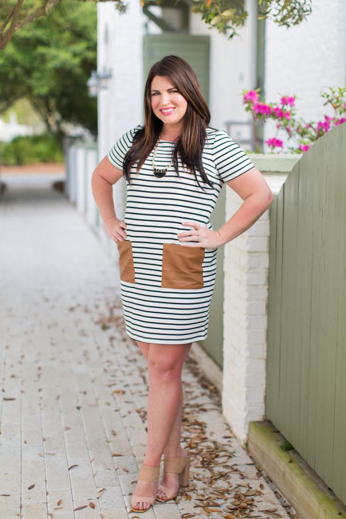 30A Street Style Jami Black White Stripe Dress 30A Style