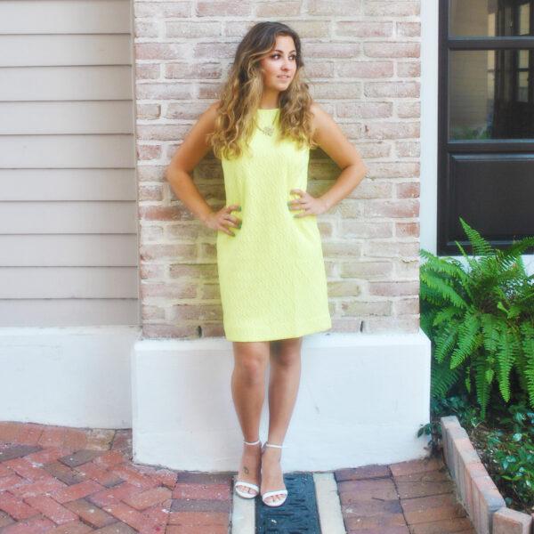 Kelsi 30A Street Style Lilly Pulitzer Mango Shift Dress