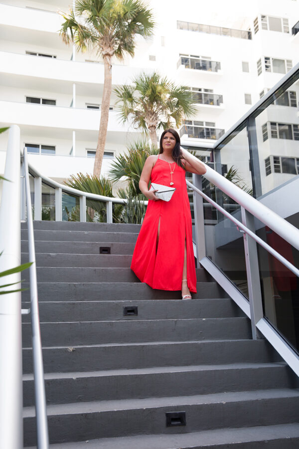 Red Maxi The Thompson Miami Jami Ray Jaqueline Ward Images