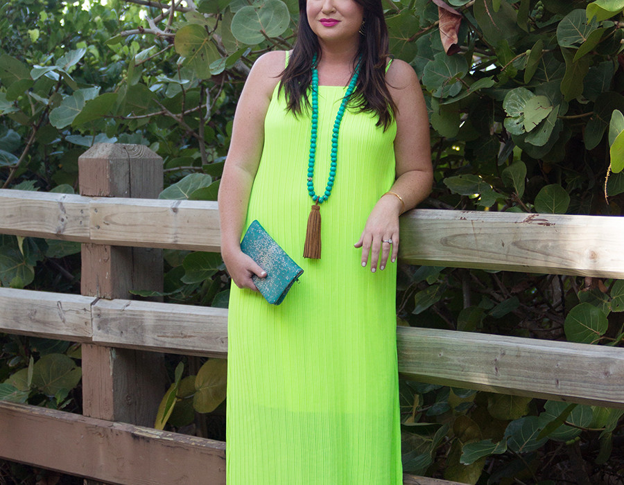 Neon Maxi Miami Swim Week Jami Ray 30A Street Style