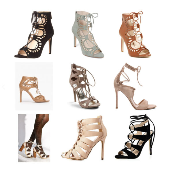 30A Street Style LaceUp Heels