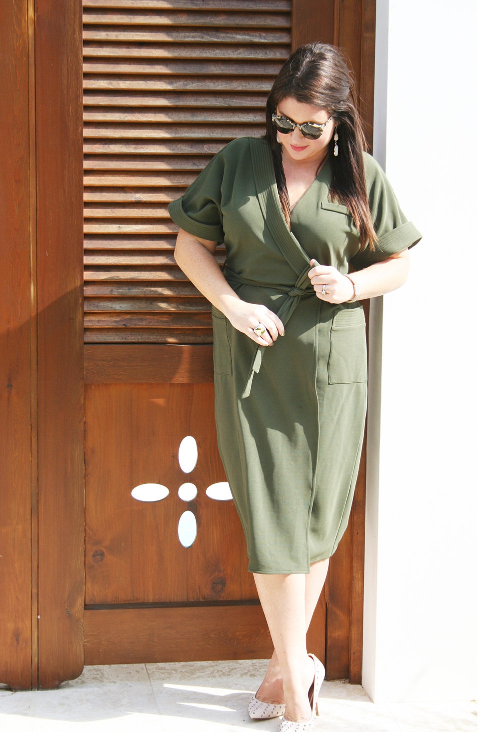 30A Street Style Alys Beach Military Dress