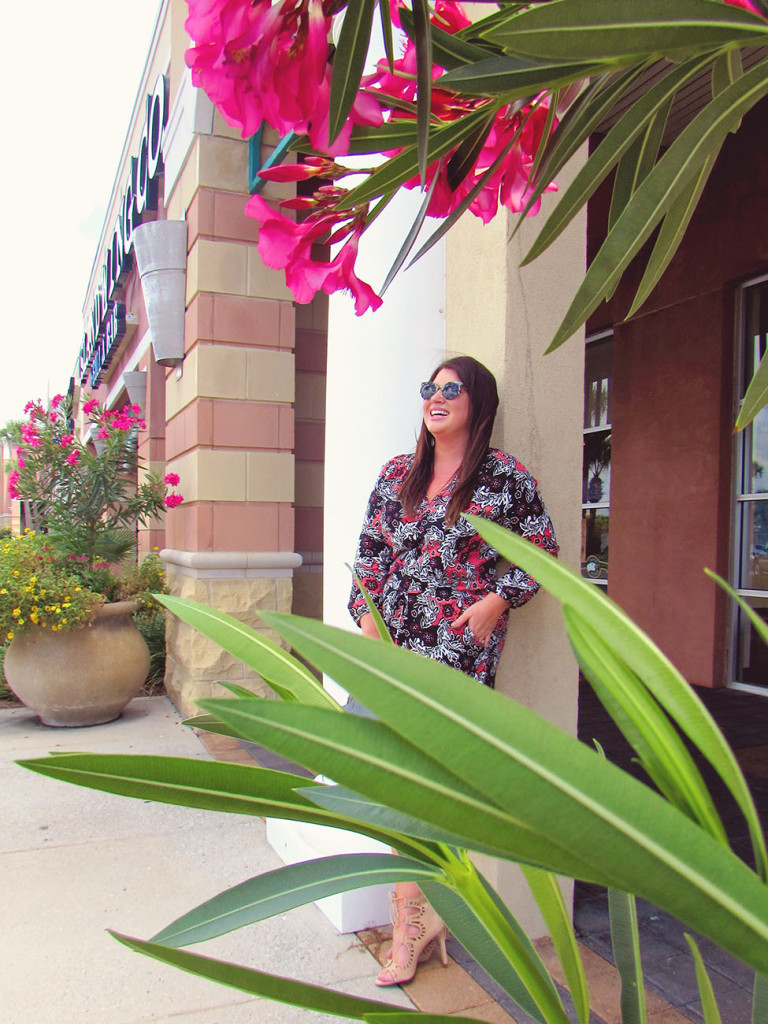 Fall Printed Romper 30A Street Style 4