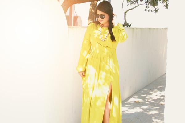 Lime Maxi Dress 30A Street Style Rosemary Beach