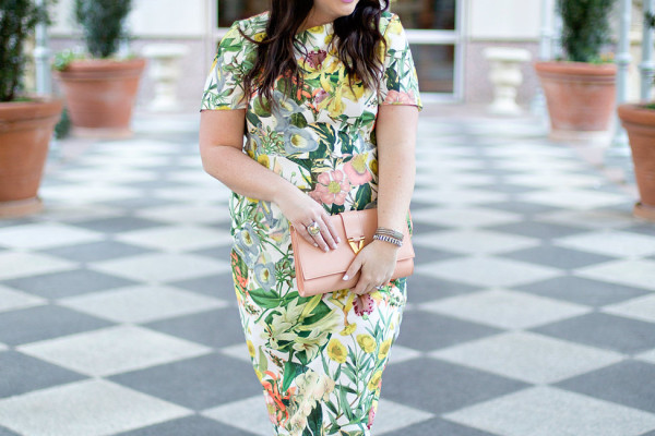 Jami Ray Floral Midi Dress Dallas