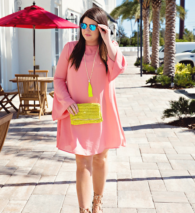 Jami Ray Pink Blush Dress | Blush & Yellow | 30A | South Walton
