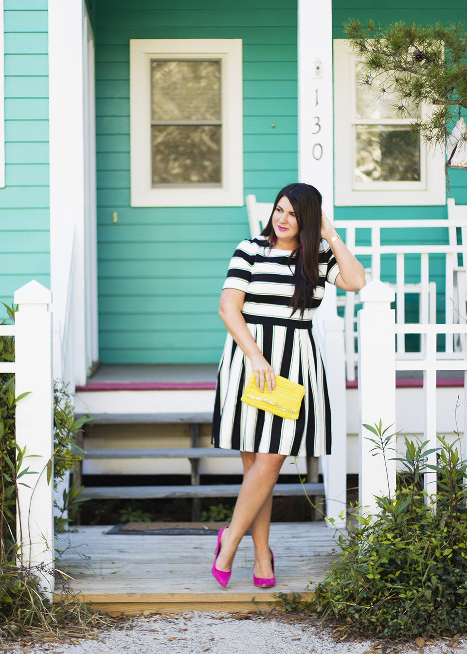 BW Ladylike Stripes 30A Street Style 8