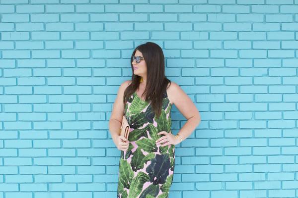 Topshop Palm Print 30A Street Style Blog YSL Westward Leaning