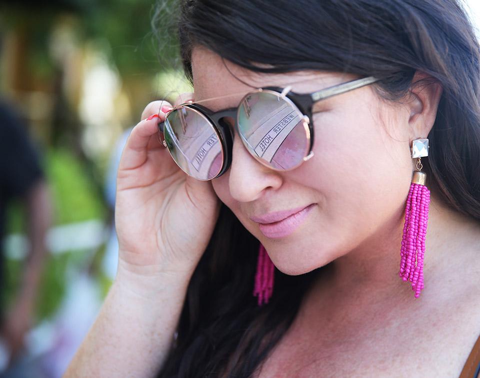 Mara Hoffman Miami Swim Week Free People Most Beautiful Midi  Sunday Somewhere Pink Tassel Earrings