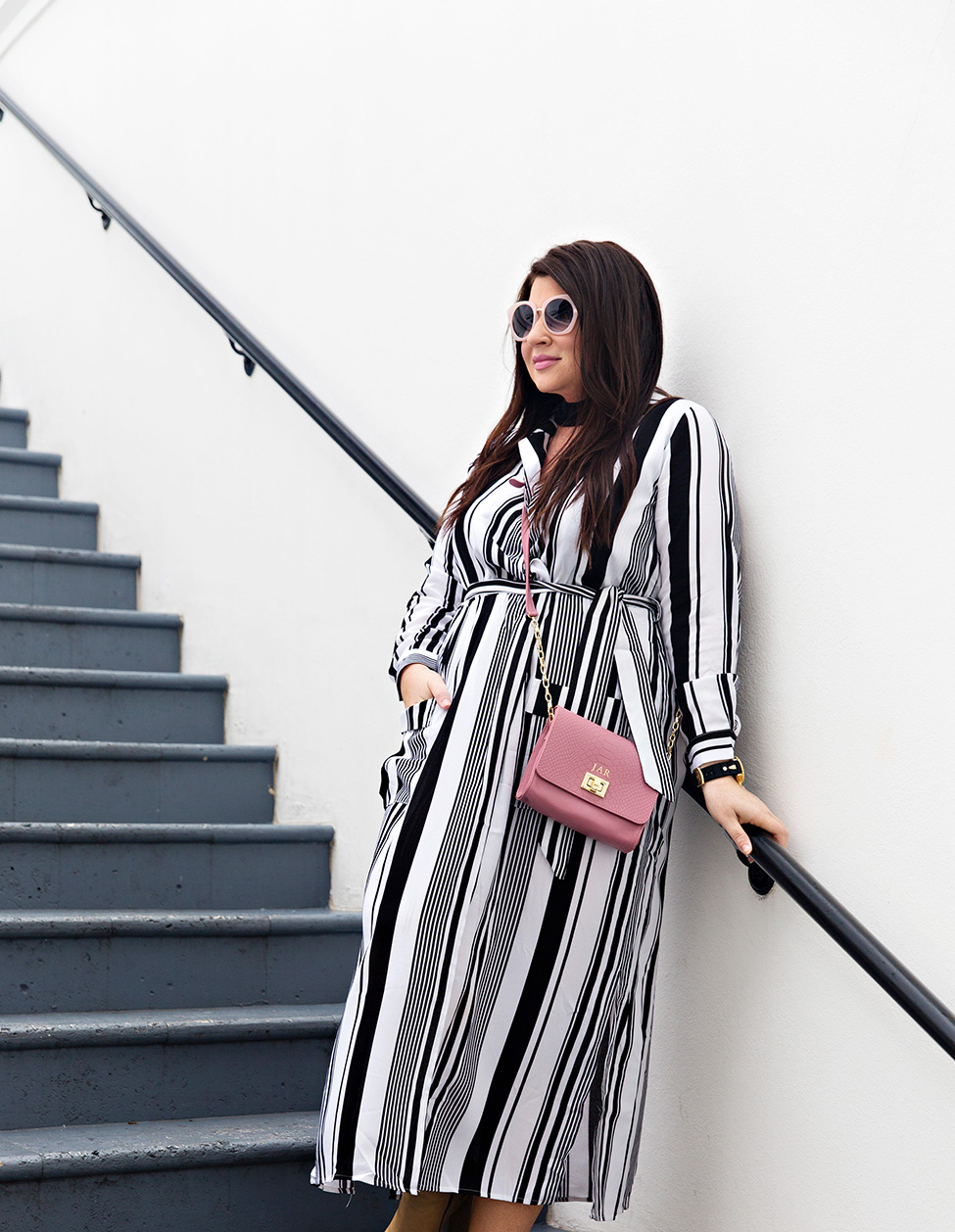 30A Street Style Jami Ray The Pearl Rosemary Beach Black and White Stripes 4