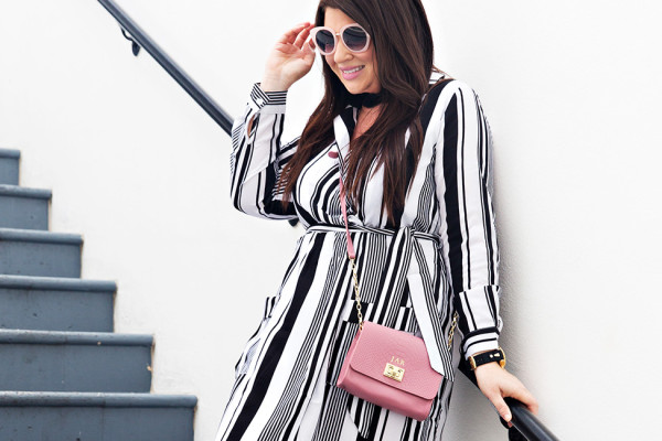 30A Street Style Jami Ray The Pearl Rosemary Beach Black and White Stripes 5