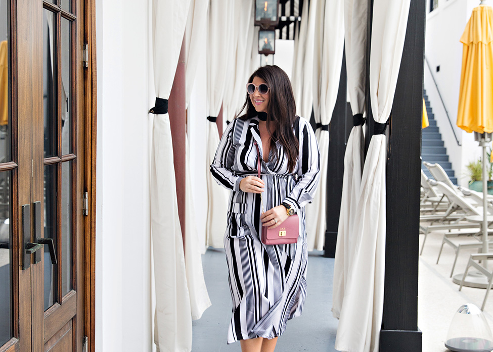 30A Street Style Jami Ray The Pearl Rosemary Beach Black and White Stripes 9