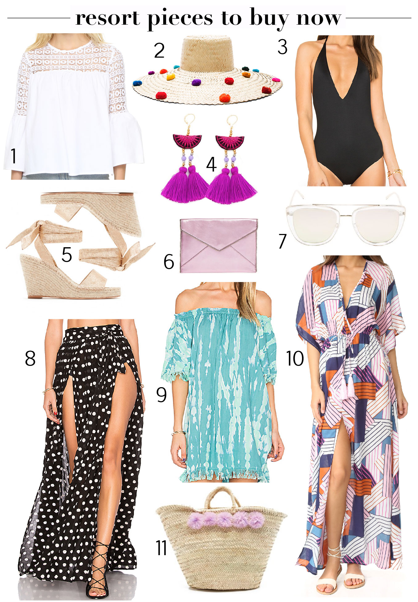 11 Resort Pieces to Buy Now. Yes to all of these!