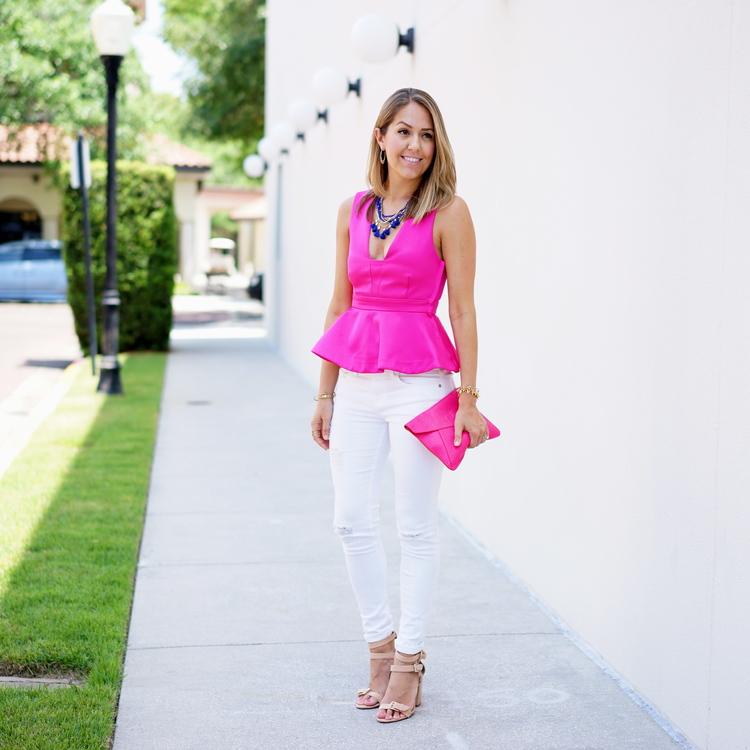 a13feb6f85f0 Js Everyday Fashion - 30 Questions on 30A Hot+pink+peplum - 30A Mama ...