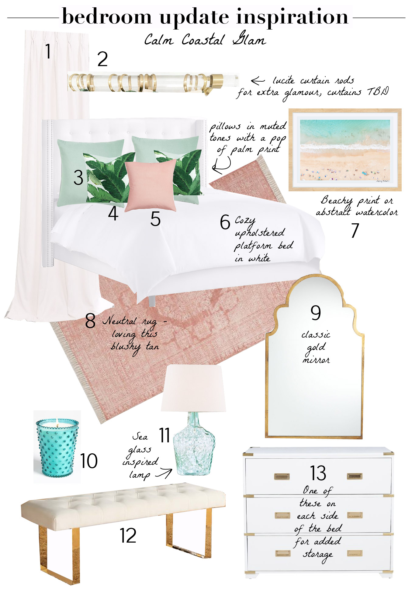 Shopping-Bedroom Update Inspiration Calm Coastal Glam