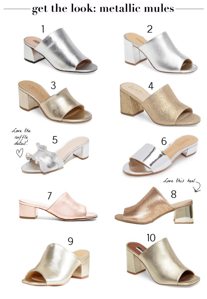 Update Your Look: Metallic Mules