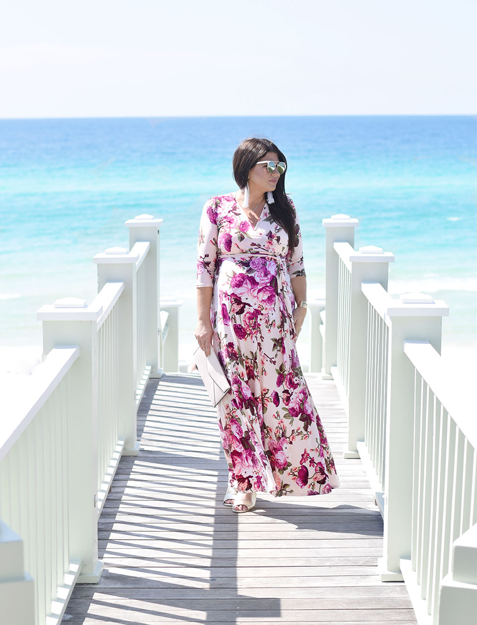 30A Street Style Maternity Dress in Seaside