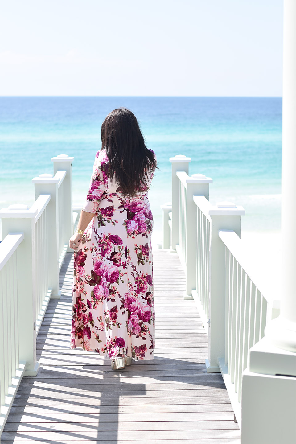 30A Street Style Maternity Maxi in Seaside