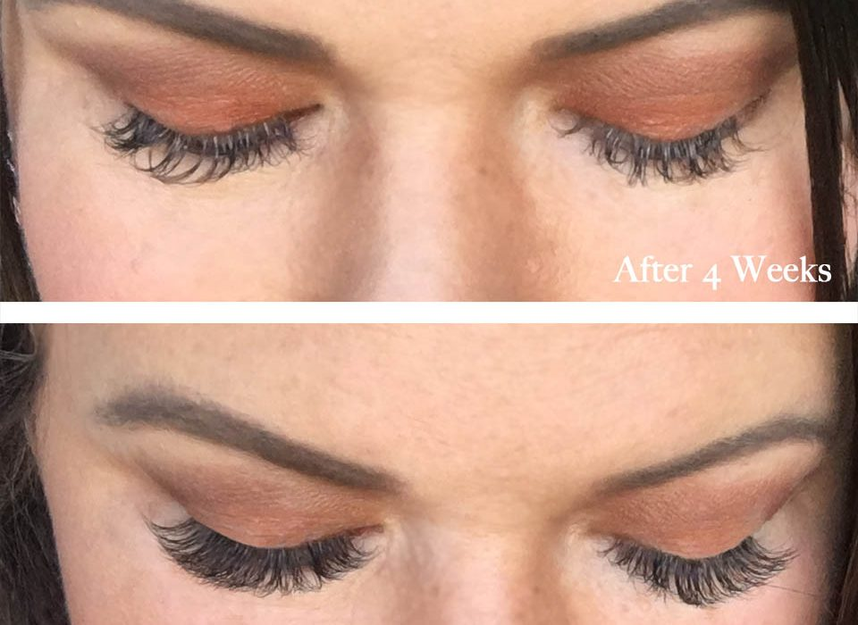 Before and After Lash Extension Refill
