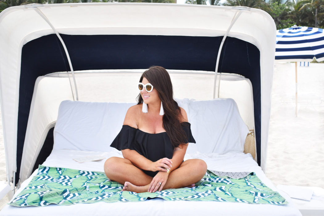 Ruffle Swimsuit Trina Turk Off the Shoulder