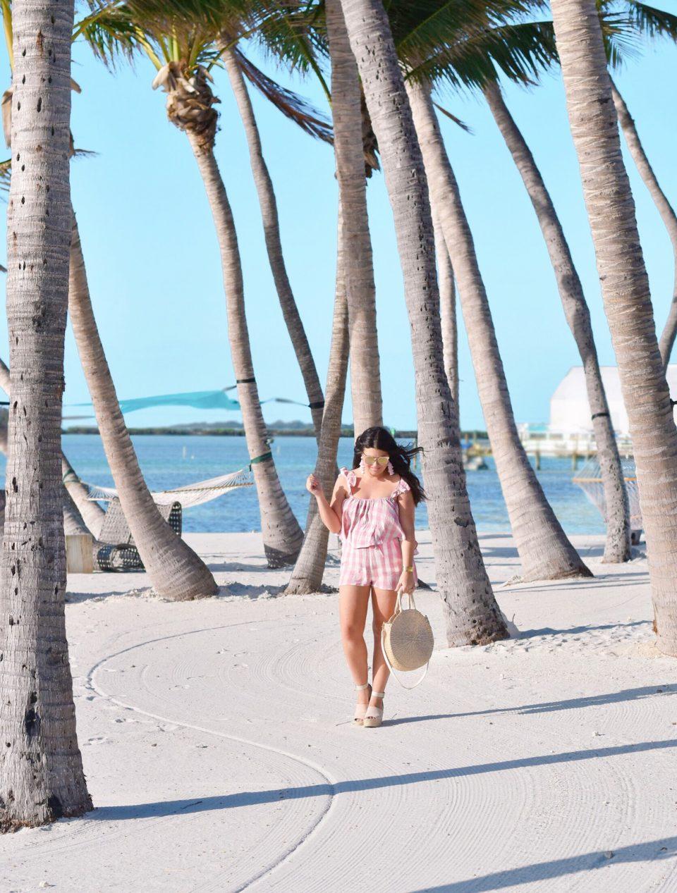 Amara Cay Resort Islamorada hotel - Pink Gingham Two Piece Set - The Keys Style