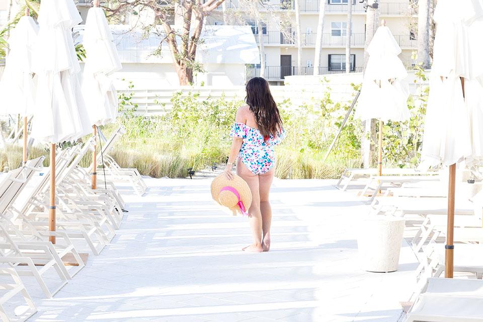 Amara Cay Resort Islamorada hotel - pool deck floral swim suit