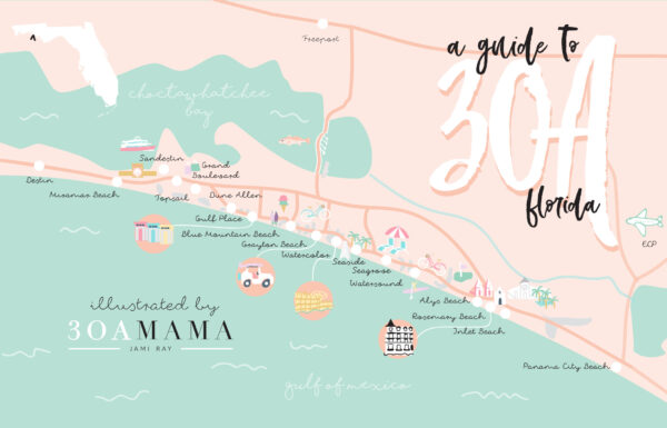 30A Mama - 30A Map Neighborhood Guide - Where to Stay on 30A